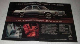 1977 2-page Chrysler LeBaron Ad - A Car This Luxurious - $14.99