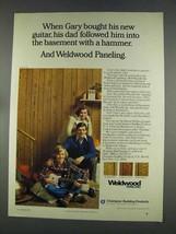 1977 Weldwood Paneling Ad - Gary Bought Guitar - $14.99