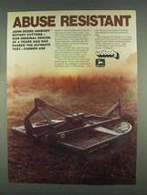 1978 John Deere Unibody Rotary Cutter Ad - Abuse - $14.99