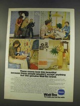 1977 Borden Wall-Tex Ad - These Rooms Look Beautiful - $14.99