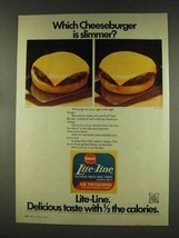 1977 Borden Lite-Line Cheese Ad - Which Cheeseburger? - $14.99