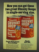 1977 Campbell's Chunky Soup Ad - Single-Serving Size - $14.99