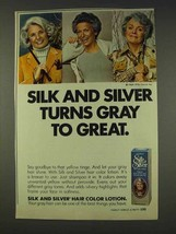 1977 Clairol Silk and Silver Hair Color Lotion Ad - $14.99