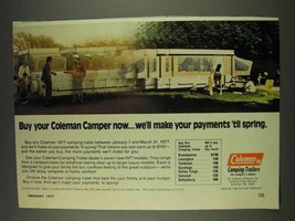 1977 Coleman Camper Ad - We'll Make Your Payments - $14.99