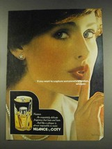 1977 Coty Nuance Perfume Ad - Capture Attention - $14.99