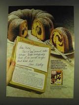 1977 Duncan Hines Deluxe II Cake Mix Ad - Fudge Marble - $14.99