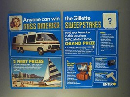 1977 Gillette Products Ad - Miss America Sweepstakes - $14.99