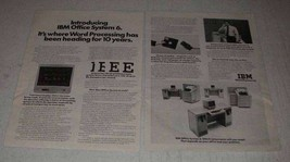 1977 IBM Office System 6 Ad - Word Processing - $14.99