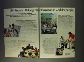 1977 IBM Computers Ad - Information to Work - $14.99