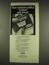 1977 Kraft Margarine Ad - Our Customer Policy - $14.99