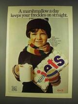 1977 Kraft Marshmallows Ad - Keeps Freckles Straight - $14.99
