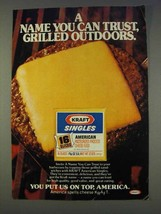 1977 Kraft Singles Ad - Can Trust Grilled Outdoors - $14.99