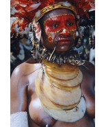 Moka Kina Shell Foi tribe Red Pigment Papua Gui... - $387.99