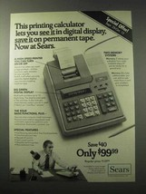 1977 Sears APF Mark 210 Calculator Ad - You See It - $14.99