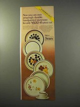 1977 Sears Stoneware Ad - Amazingly Durable - $14.99