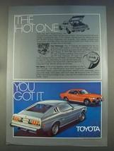 1977 Toyota Celica GT Liftback Ad - The Hot One - $14.99