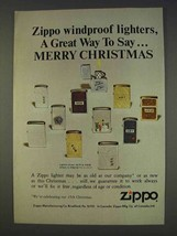1977 Zippo Cigarette Lighters Ad - Say Merry Christmas - $14.99