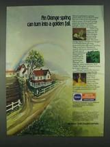 1978 Borden Smith Douglass Fertilizer Ad - Golden Fall - $14.99