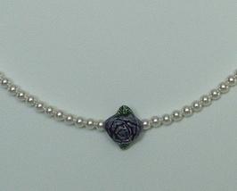 Swarovski Crystal Pearl Flower Necklace - $25.98