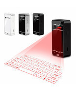 Wireless Bluetooth Laser Virtual Keyboard Projection Keyboard For Androi... - £41.71 GBP