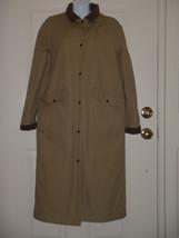 LL Bean Tan Canvas Duster Rancher Coat with Fleece Lining Size XS Reg Wo... - $139.79