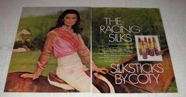 1976 Coty Silksticks Lipshades Ad - The Racing Silks - $14.99