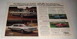 1977 Ford Ad LTD Car Ad - Landau, Squire, Brougham - $14.99
