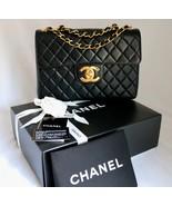 Vintage CHANEL JUMBO Black LAMBSKIN Leather XL ... - $3,329.00