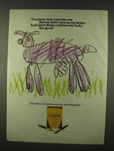 1978 Crayola Crayons Ad - Never Seen a Purple Cow - $14.99