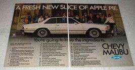 1978 Chevy Malibu Coupe Ad - Fresh Slice of Apple Pie - $14.99