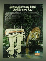 1978 Chrysler 6 and 8 Outboard Motors Ad - Purrs - $14.99