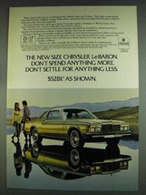 1978 Chrysler LeBaron Ad - Don't Spend Anything More - $14.99