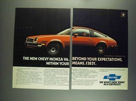 1978 Chevrolet Monza 2+2 Hatchback Coupe Ad - Beyond - $14.99
