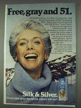 1978 Clairol Silk & Silver Hair Color Ad - Free, Gray - $14.99
