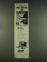 1978 Coleman Inflate-All 150 Ad - No Air? No Sweat! - $14.99