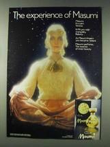 1978 Coty Masumi Perfume Ad - The Experience - $14.99