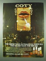 1978 Coty Amazing Glaze Lip Gloss Ad - Outdazzles All - $14.99