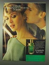1978 Coty Emeraude Perfume Ad - Liquid Jewel - $14.99