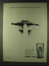 1978 Coty Nuance Perfume Ad - Capture Attention Whisper - $14.99