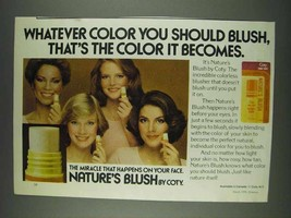 1978 Coty Nature's Blush Ad - Whatever Color You Should - $14.99