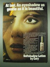 1978 Coty Softshadow Lotion Ad - Gentle Beautiful - $14.99