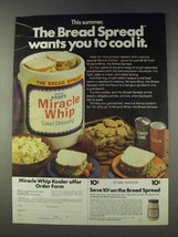1978 Kraft Miracle Whip Ad - The Bread Spread - $14.99