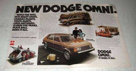 1978 Dodge Omni Ad - Totes the Tots - $14.99