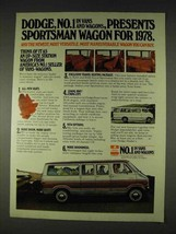 1978 Dodge Sportsman Wagon Van Ad - No.1 in Vans - $14.99