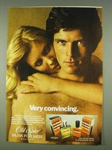 1978 Old Spice Musk for Men Cologne & After Shave Ad - $14.99