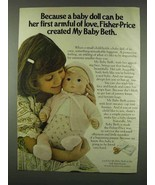 1978 Fisher-Price My Baby Beth Ad - Armful of Love - $14.99