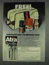 1978 Gillette Atra Razor Ad - Travel Kit - $14.99