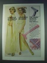 1978 Gillette Daisy Razor Ad - Cover Up by Kasper - $14.99