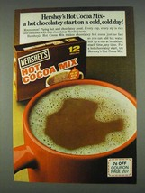 1978 Hershey's Hot Cocoa Mix Ad - Cold, Cold Day - $14.99