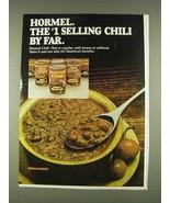 1978 Hormel Chili Ad - #1 Selling Chili By Far - $14.99